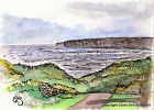 The Bay, Filey Yorkshire Art Print of Seascape original painting by C Strickland