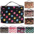 Women Makeup Cosmetic Case Toiletry Bag Zebra Travel Handbag Organizer pouch New