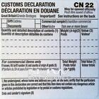 SELF ADHESIVE CUSTOMS DECLARATION LABEL FORMS CN22 various quantities