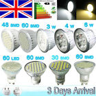 4/12 x 4 / 5 / 6 W LED Spot Light 60/30 SMD 5050 Bulbs GU10 Day/Warm White UK