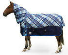 Gallop 600 Denier 400 Gram Pony Horse Turnout Rug - Blueberry Plaid