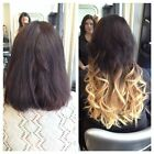 """20""""DIP DYE/MICRO LOOPS 1G OMBRE HUMAN HAIR EXTENSIONS #1B/20 5A GRADE  STRAIGHT"""