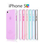 Soft Silicone Rubber Bumper Frosted Matte TPU Gel Case Cover iPhone 5C 100% New