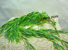 artificial hanging bamboo plant fake silk green leaf hanging willow bunch house