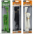 05430 75 Pcs. Nylon Cable Ties Pack Assorted Sizes & Colours Tie Wraps Zip Set