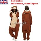 Brown Monkey Unisex Adult Onesies Kigurumi Pajamas Anime Cosplay Costume Dress