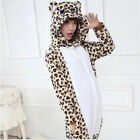 HOT Unisex Leopard Bear Pajamas Kigurumi Cosplay Costume Animal Onesie Sleepwear