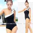 Summer One Piece Shoulder Padded Monokini Bikini Swimsuit Swimwear Bathing Suit