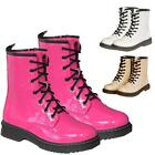 NEW LADIES FASHION COMBAT BOOTS WOMENS WORKER ANKLE SHOES SIZE UK