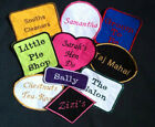Iron-On & Sew-On Embroidered Name Patch / Badge - Uniforms Clubs Business Party