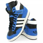 Adidas Originals Conference Hi Top blue suede textile basketball trainers G95982