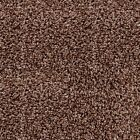 NOBLE SAXONY Espresso Brown Fleck Carpet Quality Thick Shag Pile Stain Resistant