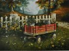 "MH195 Vintage Wagon Michael Humphries 12""x16"" framed or unframed print art"