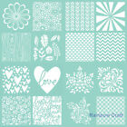Kaisercraft Templates Stencils, Mini Mix, Scratchy, Spotty, pipes, Damask, love