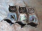 Handcrafted Abalone Inlay Black Cat Pin Alpaca Silver Made in Mexico Fair Trade