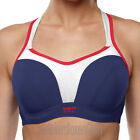 Panache Sports Bra Navy/Red/White Racer Back Option 5021 NEW Select Size