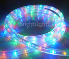 MULTICOLOUR LED ROPE LIGHT OUTDOOR LIGHTS MULTI & STATIC CHRISTMAS XMAS GARDENS