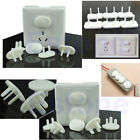 10Pcs Electric Outlet 2 or 3 Plug Cover Children Kids Baby Safety White Covers