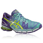 ASICS Womens GEL-KINSEI 5 Green Purple Cushioned Running Trainers Pumps Shoes