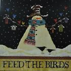 "HILL222 Feed The Birds Lisa Hilliker 16""x16"" framed or unframed print snowman"