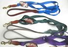 """NWT Weaver 4 foot x 1"""" Wide Dog Leash Lead Nylon with Leather Ends, Brass"""