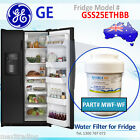 Aqua Blue H2O GSS25ETHBB GE Fridge Compatible Replacement MWF (WF) Water Filter
