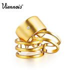 Viennois 3PCS/Set Rings 18K Gold GP Knuckle Ring Band Ring Fashion Jewelry