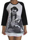 Unisex Boy George Raglan 3/4 Length Sleeve Baseball T-Shirt (Vest Tank Jumper)