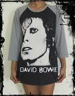 Unisex David Bowie Raglan 3/4 Length Sleeve Baseball T-Shirt(Vest Tank Jumper)