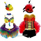 CIRCUS CLOWN RINGMASTER WOMENS FANCY DRESS RAVE COSPLAY MARDI GRAS COSTUMES