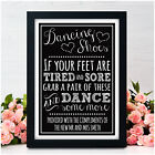 PERSONALISED Dancing Shoes Chalkboard WEDDING SIGN Dancing Feet Flip Flops Sign
