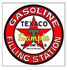 Texaco 'AA' Gasoline Magnets Vinyl Stickers Decals Motor Oil Gas Globe