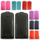 Mens / Ladies / Womens Soft Leather Slim Glasses Case / Pouch