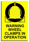 WHEEL CLAMPS IN OPERATION SIGN PLAQUE NOTICE 9069