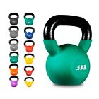 JLL Kettlebells with Neoprene Covered Cast Iron 6kg to 24kg Kettlebell Exercise