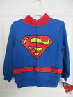 NEW DC COMICS SUPERMAN ZIPPED HOODED FLEECE LOGO ON FRONT SIZES 5-6 AND 7  $36