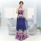 Ever Pretty Strapless Evening Formal Long Party Prom Floral Dresses 08380