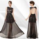 Ever Pretty Sexy Black Evening Cocktail Backless Long Formal Party Dresses 08384
