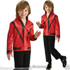 CK340 Licensed Michael Jackson Red Thriller Jacket Child Fancy Dress Up Costume