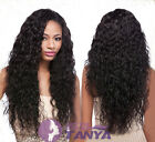 Curly Water Wave 100% remay human hair full/front lace wig with 150% density