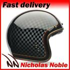 BELL CUSTOM 500 CHECK IT ROLAND SANDS MOTORCYCLE HELMET GLOSS BLACK GOLD RED
