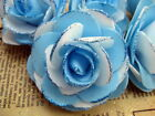 "6x PE TWO TONE rose Artificial Silk Flower Heads Wedding bridal decor 3"" 7.5cm"