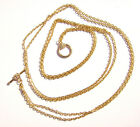 Chain Necklace Handmade Flat Cable Gold Toggle Clasp Flower All Sizes 5 Or 1 Qty
