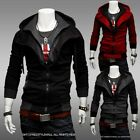 1x Cool Men Assassin's Creed Cosplay Slim Zipper Sweater Hoodie Jacket Coat - CB