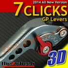 7 CLICKS 3D GP Levers Adjustable KYMCO XCITING 400i