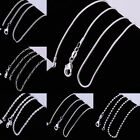 Wholesale 925 Sterling Silver Plated Curb Figaro Bead Box Snake Chain Necklace