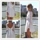 2015 New Sexy Casual Lace Long Sleeve Party Evening Cocktail Short Mini Dress-CB