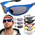 X-Loop Wrap Sunglasses Mens Sport Fishing Golfing Glasses Dark / Mirror Lens