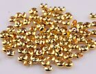 200 Pcs Silver/Golden End Crimp Beads Knot Covers Findings 3/4/5mm