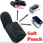 Small Soft/Rigid Black portable Carrying pouch/case for Fingertip Pulse Oximeter